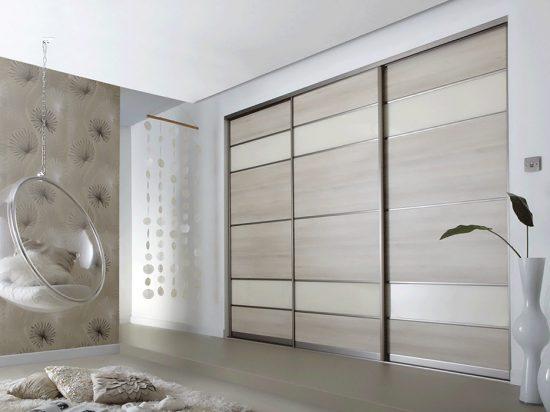 Light Grey Oak/ Pearl White panels
