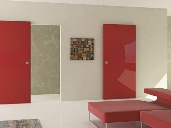 Red high gloss panel