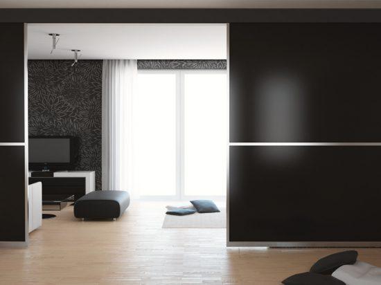 Satin black panel