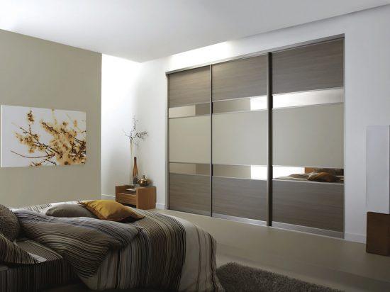 Ontario Walnut/ Stone Grey panels& Bronze mirror
