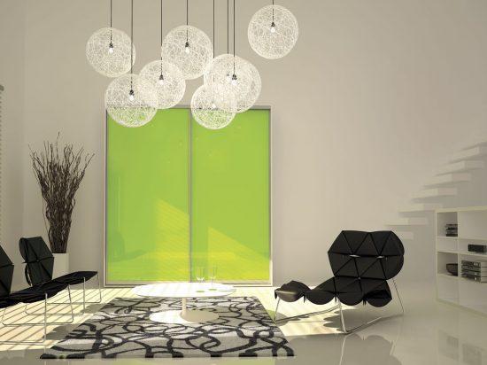 Hot green interlayer-laminated glass
