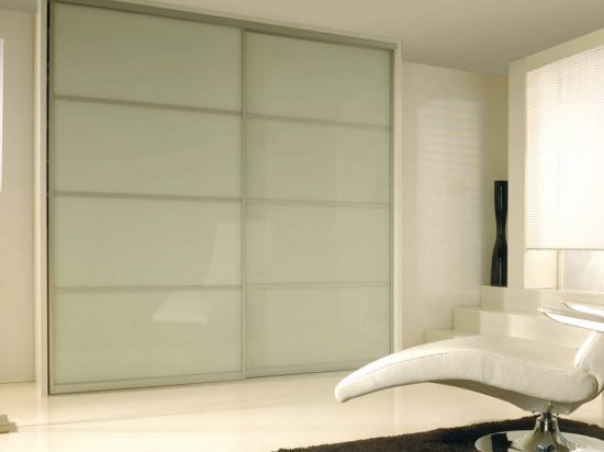 Milky white interlayer-laminated glass