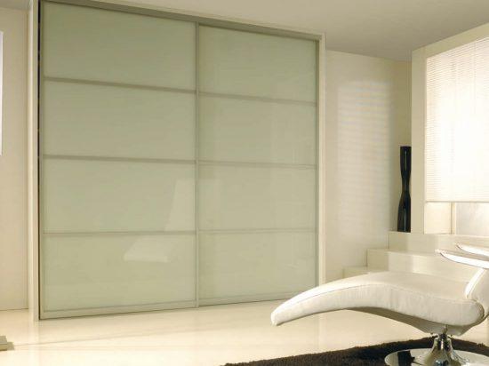 Milky white interlayer-laminated glass