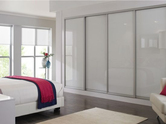 Solid White interlayer-laminated glass
