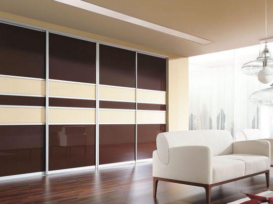 Chocolate/ Vanilla interlayer-laminated glass