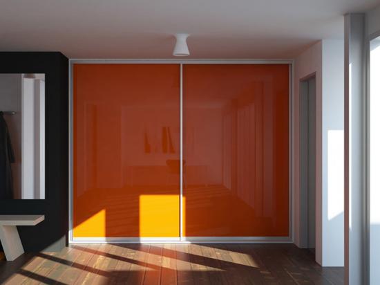 Flush Orange interlayer-laminated glass