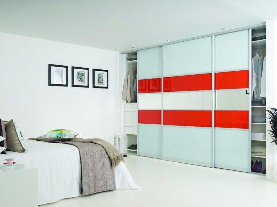 Solid White/ Orange interlayer-laminated glass& Clear mirror