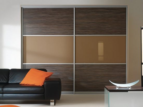 Cinnamon interlayer-laminated glass& Zebrano panel