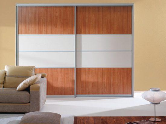 White satin panel