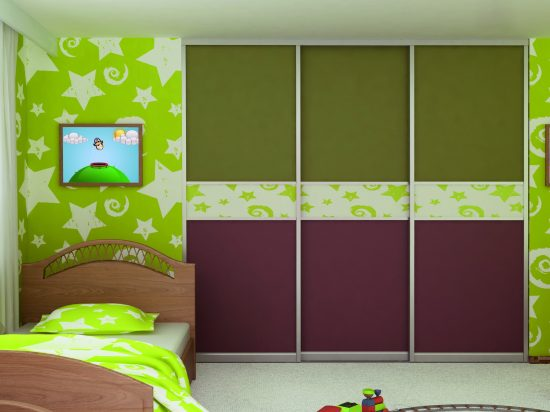 Olive/ Livid Brown panel& Wallpaper break