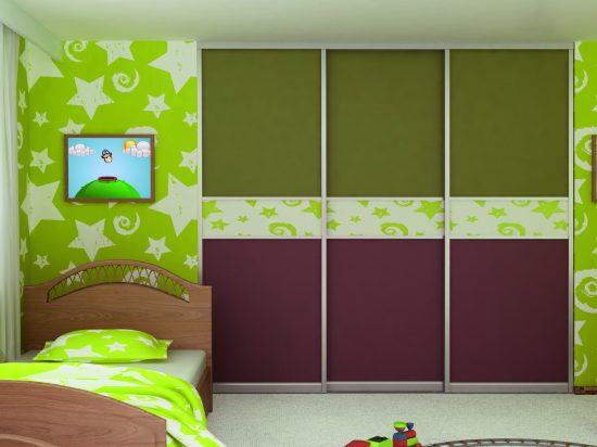 Olive/ Livid Brown panel& Wallpaper break