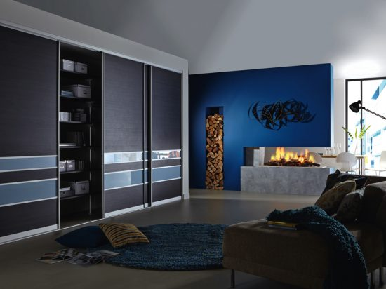 Hacienda Black& Dark Pastel Blue interlayer-laminated glass