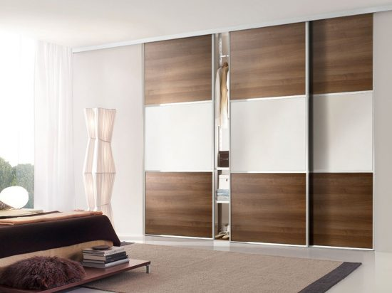 Dark Walnut/ White satin panel