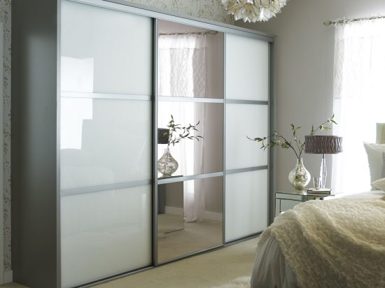 White interlayer-laminated glass& Bronze mirror