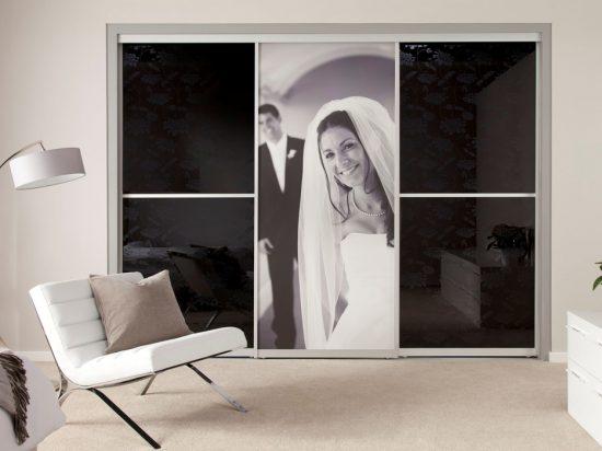 Fabric-interlayer laminated glass& laminated graphic print