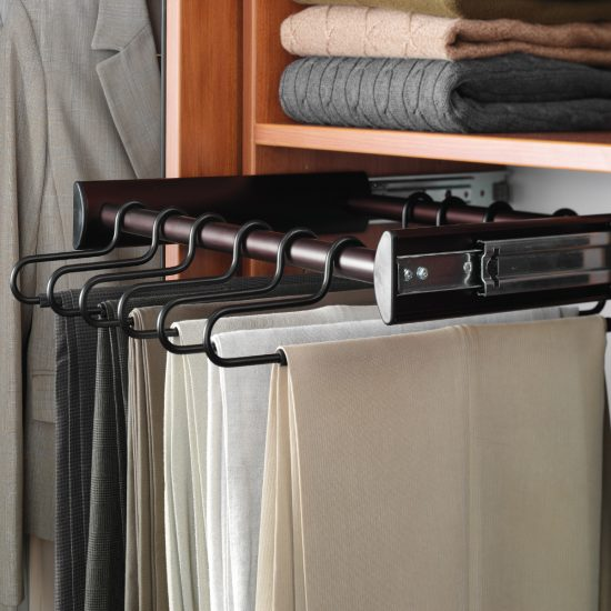 Closet Pants Rack with full extension slide