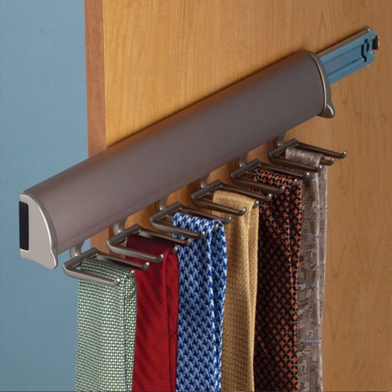 Closet Tie Rack with full extension slide