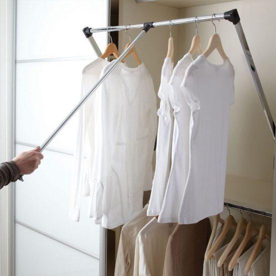 Pull Down Wardrobe Rod