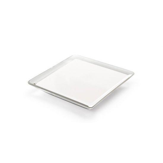 Square White Cuore Acrylic Pulls