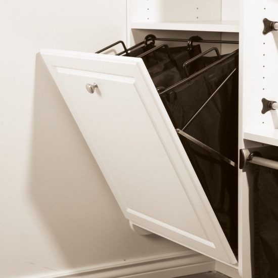 Tilt-Out Hamper With Double Removable Bags