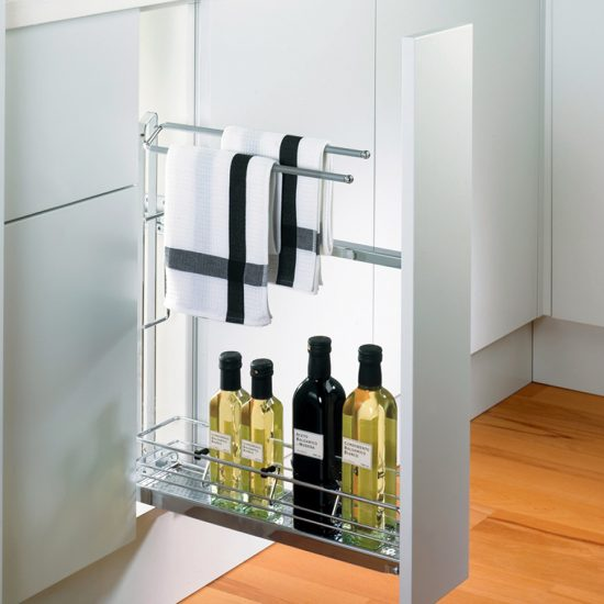 Pull Out Towel Rack & Detergent Storage
