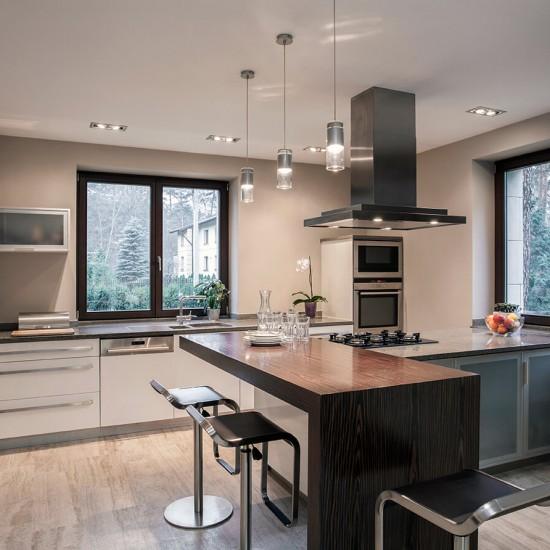 Designed kitchen in modern house